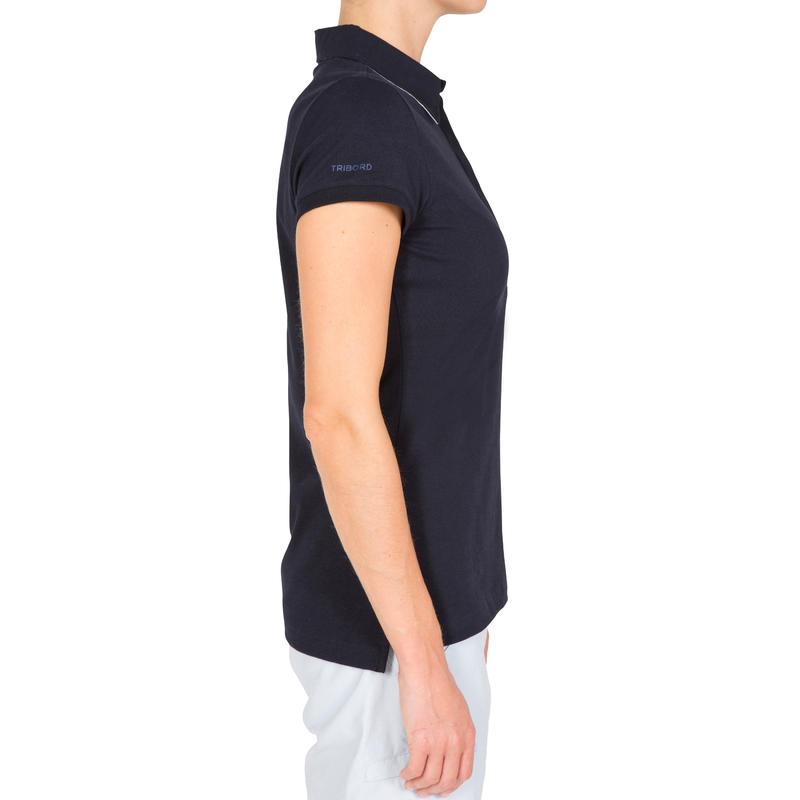 เสื้อโปโลผ้าฝ้ายผสมอีลาสเทนกันแดดได้ 40+ Kostalde สำหรับผู้หญิง (สีน้ำเงินเข้ม)