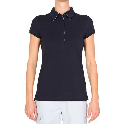 100 Women's Sailing Polo Shirt - Dark Blue
