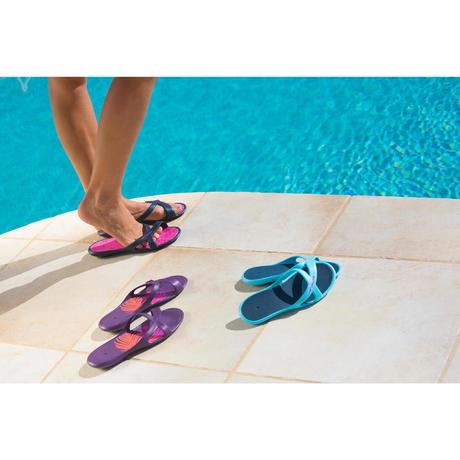 Sandales natation femme metaslap blanc bleu nabaiji for Sandales de piscine