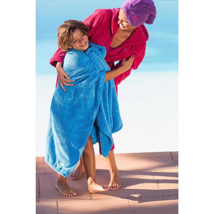 Zachte microvezel haar handdoek bordeaux