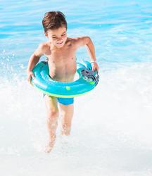 Blauwe zwemband 51 cm met zebraprint en twee luchtkamers kinderen 11-30 kg - 426723