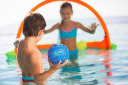 Kleine bal met grip voor het zwembad, effen blauw - 426762