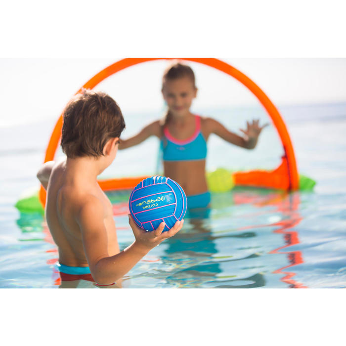 Petit ballon piscine adhérent uni bleu - 426762