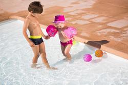 """Blauwe opblaasbare zwembandjes met print """"Zebro"""" 11-30 kg - 426771"""