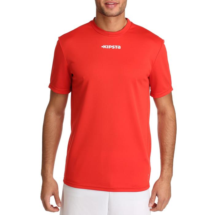 Camiseta de fútbol adulto F100 rojo
