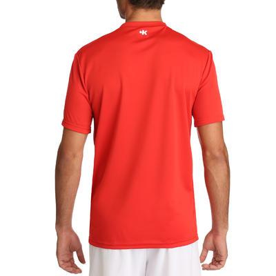 Kipsta F100 חולצת כדורגל למבוגרים אדום