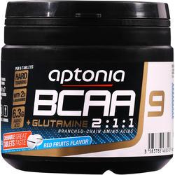 Comprimidos para masticar BCAA 2.1.1 + GLUTAMINA frutos rojos X 90