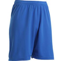 Voetbalshort voor volwassenen F100 blauw