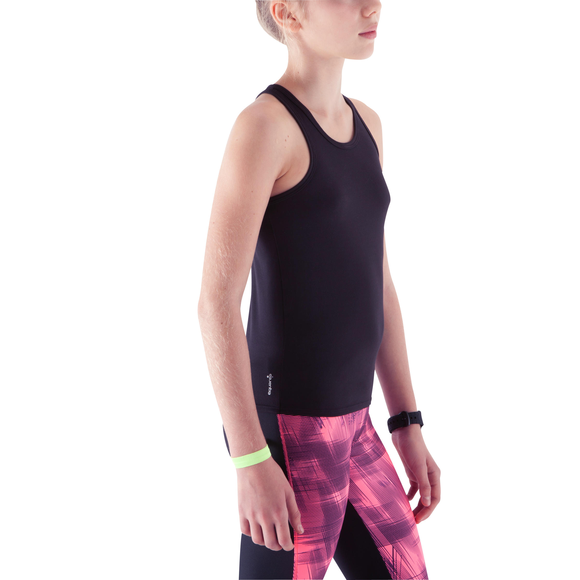 Energy Girls' Gym Tank Top - Black