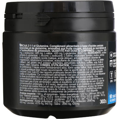 BCAA 2.1.1 + GLUTAMINE comprimés à croquer fruits rouges X 90