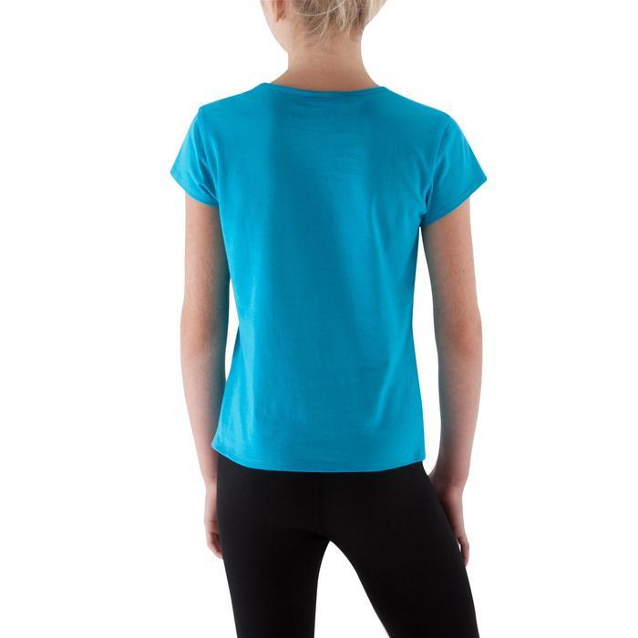 Camiseta niña gimnasia azul