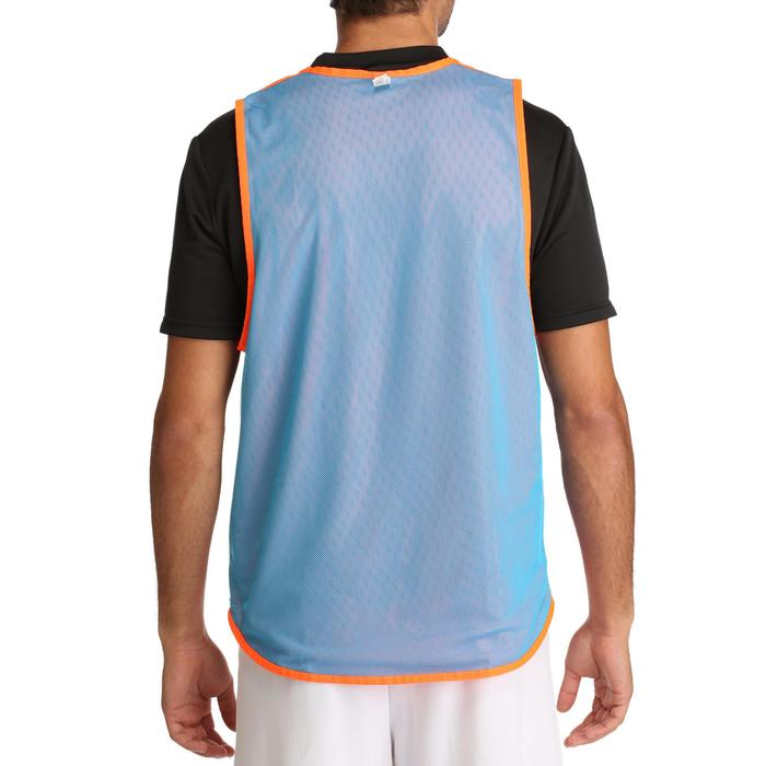 Chasuble réversible rugby bleue orange - 427218