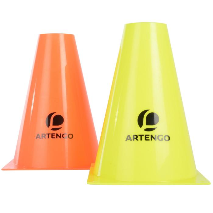 Tennis Spielfeld-Abgrenzungskegel 19cm im 6er-Pack