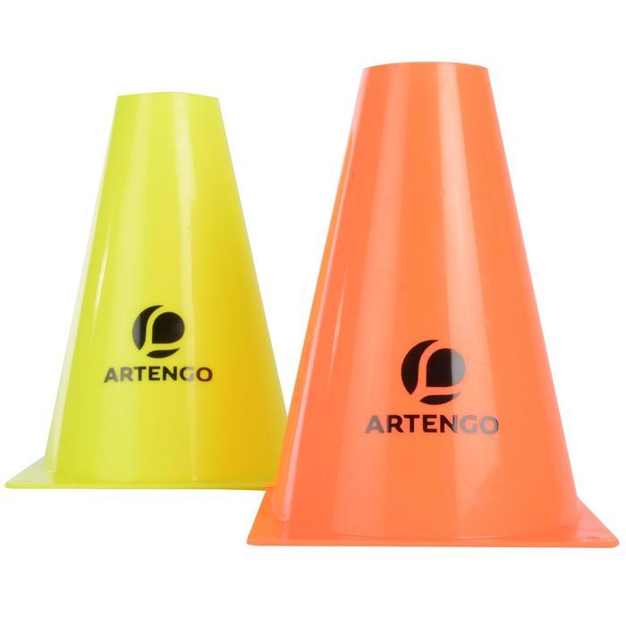 19 cm Tennis Court Marking Cones 6-Pack