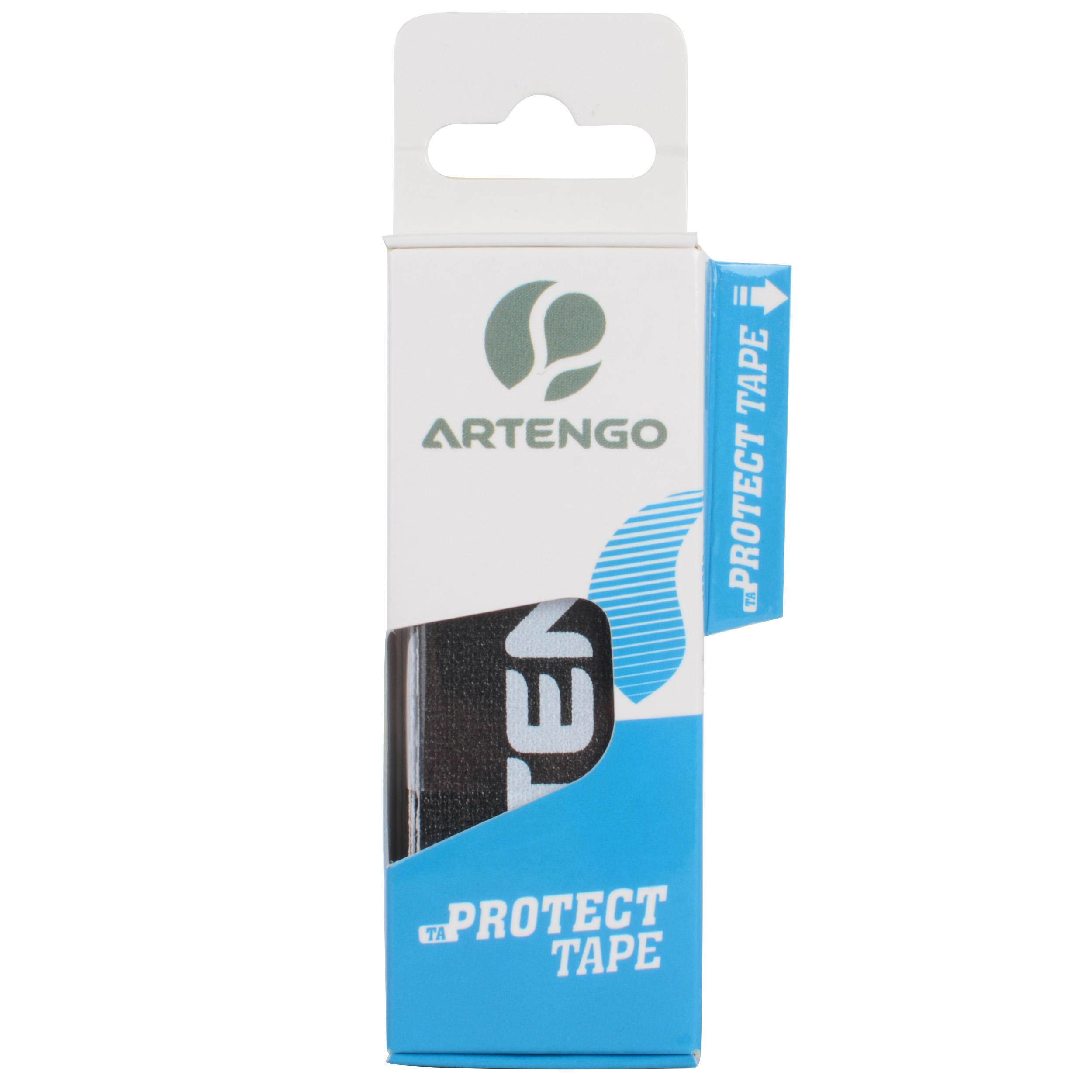 Artengo Beschermtape tennisracket protect tape zwart set van 3