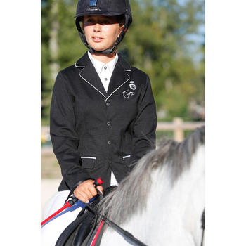 Paddock Children's Horse Riding Show Jacket - Black - 428421