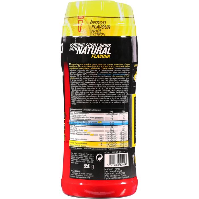 Iso+ Getränkepulver Zitrone 650 g