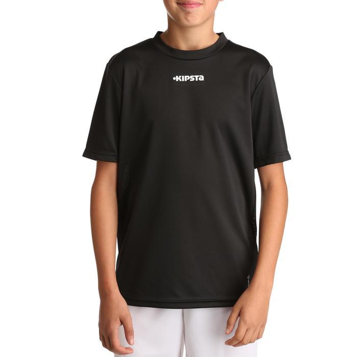 Voetbalshirt F100 voor kinderen zwart