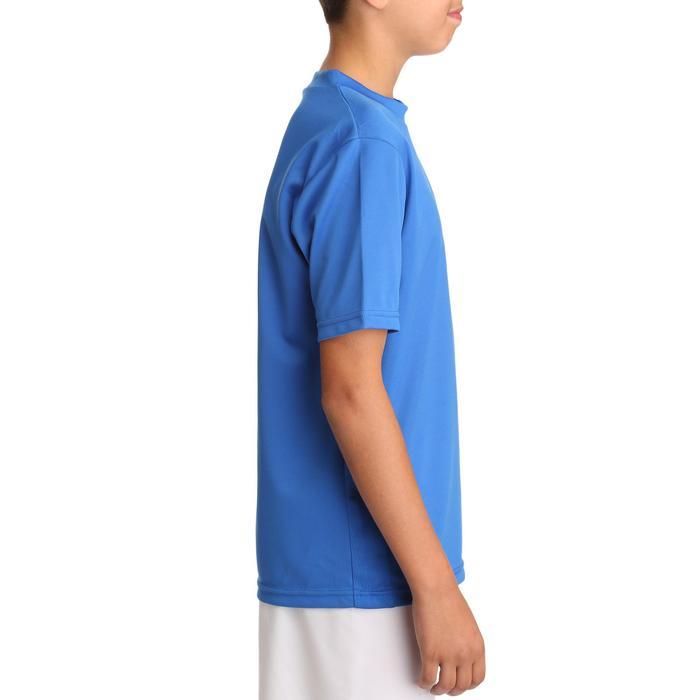 Camiseta de fútbol manga corta niños F100 azul