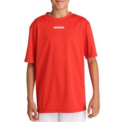 Camiseta de fútbol manga corta niños F100 rojo