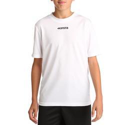 Camiseta de fútbol niños F100 blanco