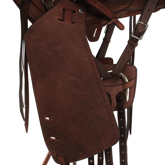Selle équitation randonnée cheval ESCAPE marron - 428831