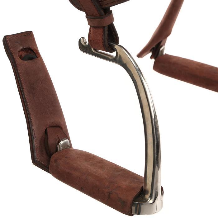 Selle équitation randonnée cheval ESCAPE marron - 428833