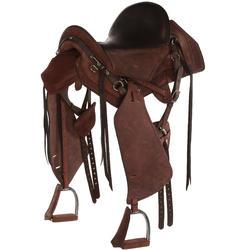 Selle équitation randonnée cheval ESCAPE marron