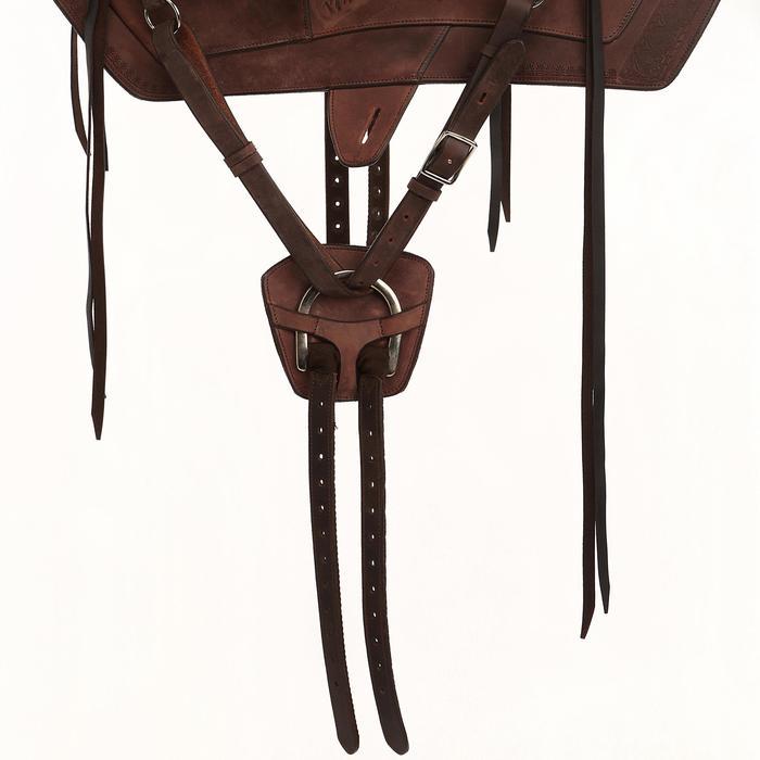 Selle équitation randonnée cheval ESCAPE marron - 428837