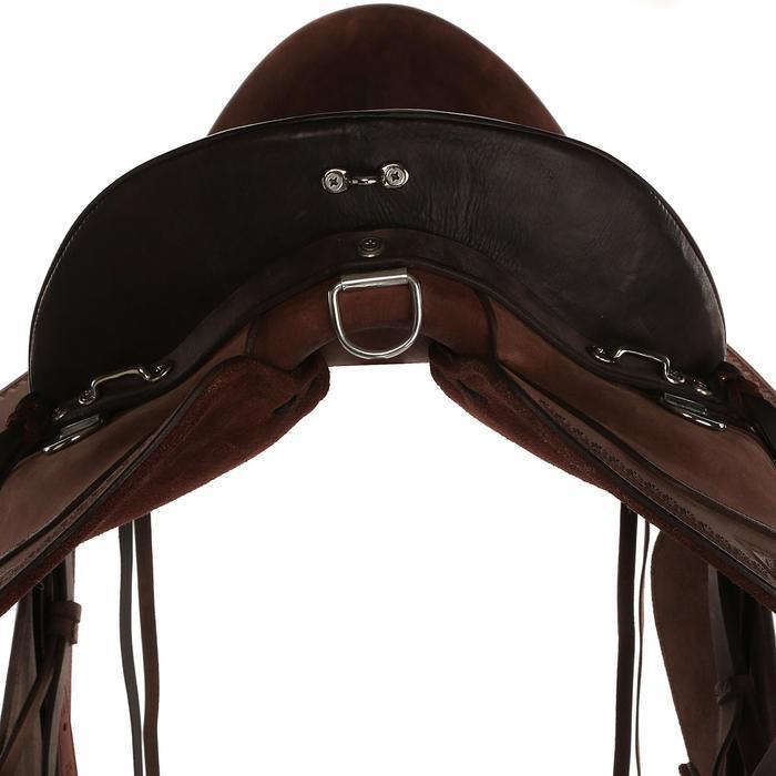 Selle équitation randonnée cheval ESCAPE marron - 428840