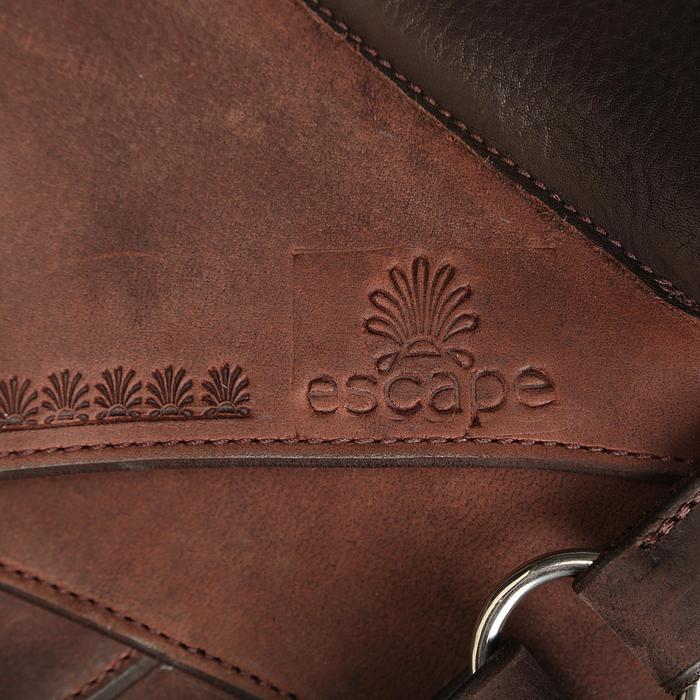 Selle équitation randonnée cheval ESCAPE marron - 428843