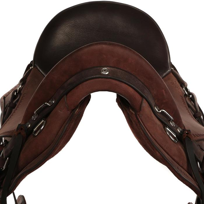 Selle équitation randonnée cheval ESCAPE marron - 428844