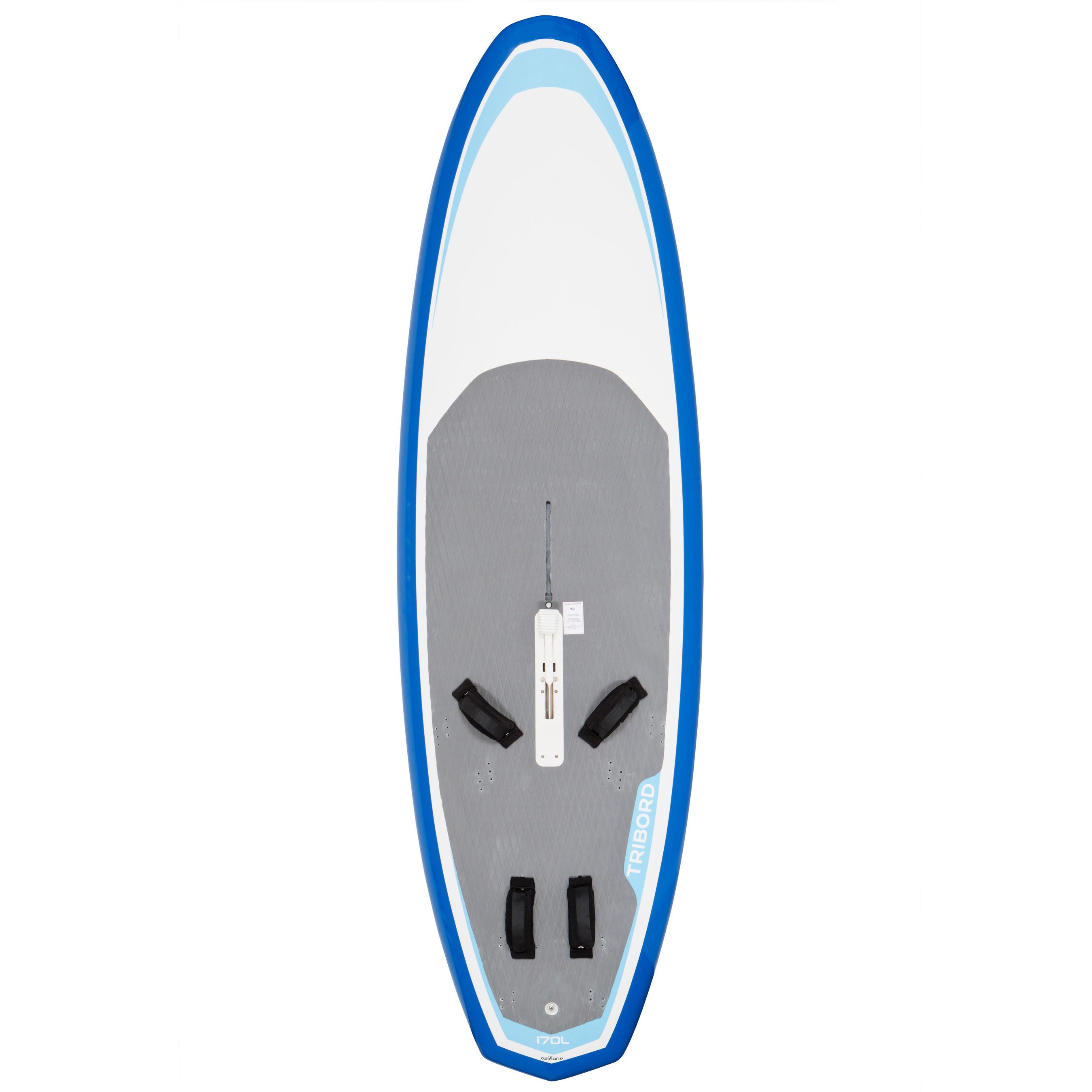 Tribord Stijve windsurfplank 170 l met zwaard en footstraps