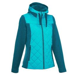 NH500 Hybrid Women's Hiking Pullover - Turquoise