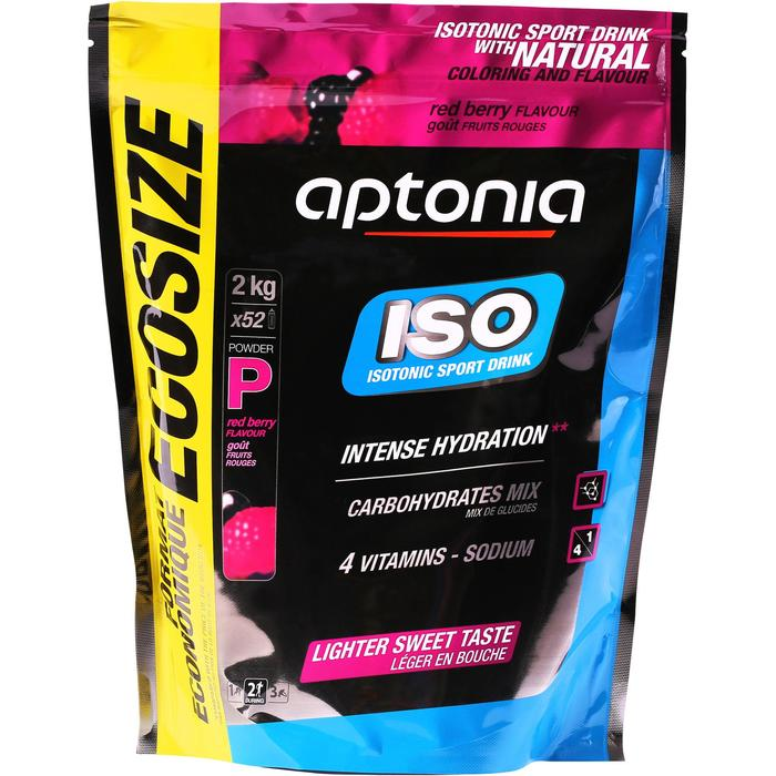 Poeder voor isotone dorstlesser ISO rode vruchten 2 kg