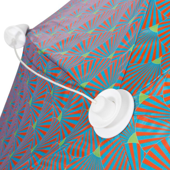 Strandtent Iwiko 180 grijs blauw