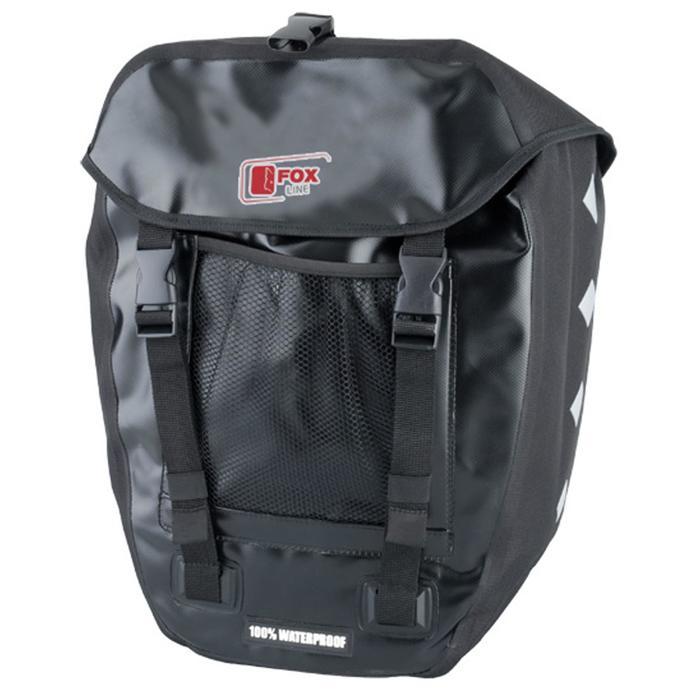 Fahrradtasche Gepäcktasche Foxline 30 Liter wasserdicht schwarz