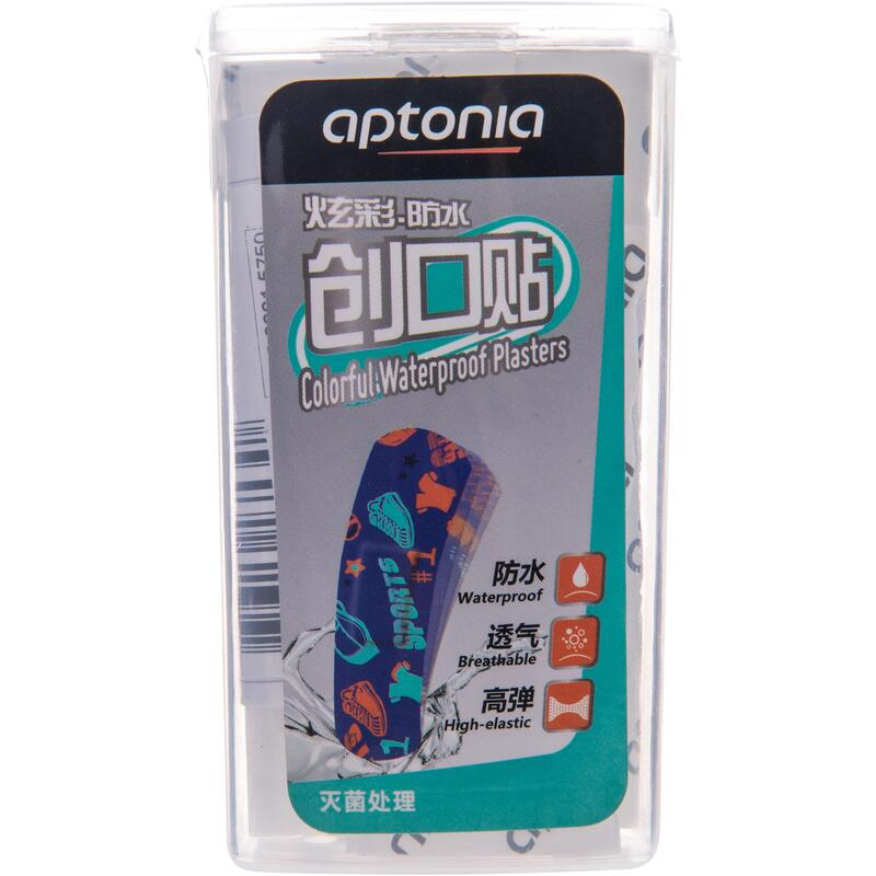 Pack of 30 coloured water-repellant first aid plasters