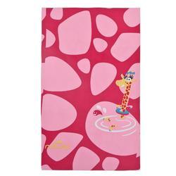 Ultra-Compact Microfibre Printed Towel Size L 80 x 130 cm - Pink