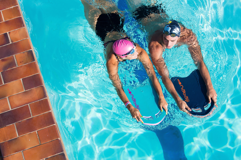 Large Swimming Kickboard Blue Black