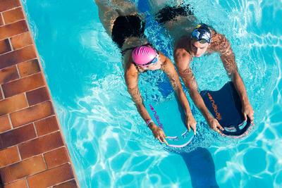 Велика дошка для плавання - Синя/Чорна