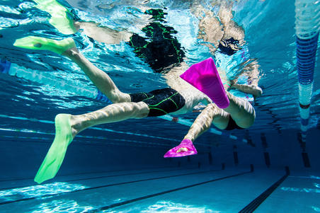 Short swim fins - Green