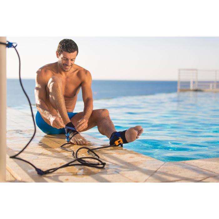 Zwemelastiek met enkelbandjes blauw geel - 429714