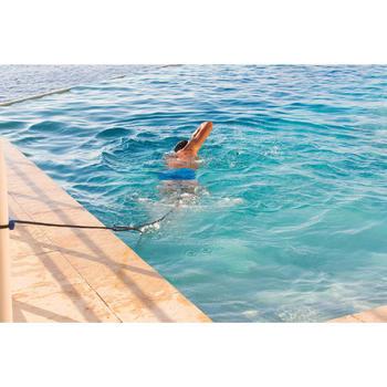 Zwemelastiek met enkelbandjes blauw geel - 429719