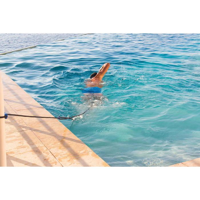 Élastique de nage avec chevillères bleu jaune