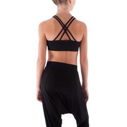 Zwart danstopje met dunne schouderbandjes voor meisjes. - 430506