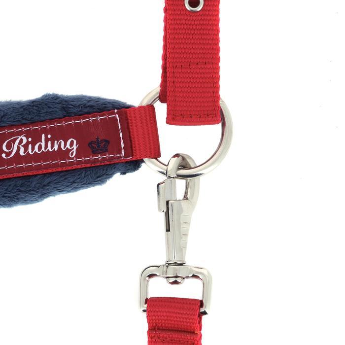Cabestro + ronzal equitación poni y caballo WINER rojo y azul marino