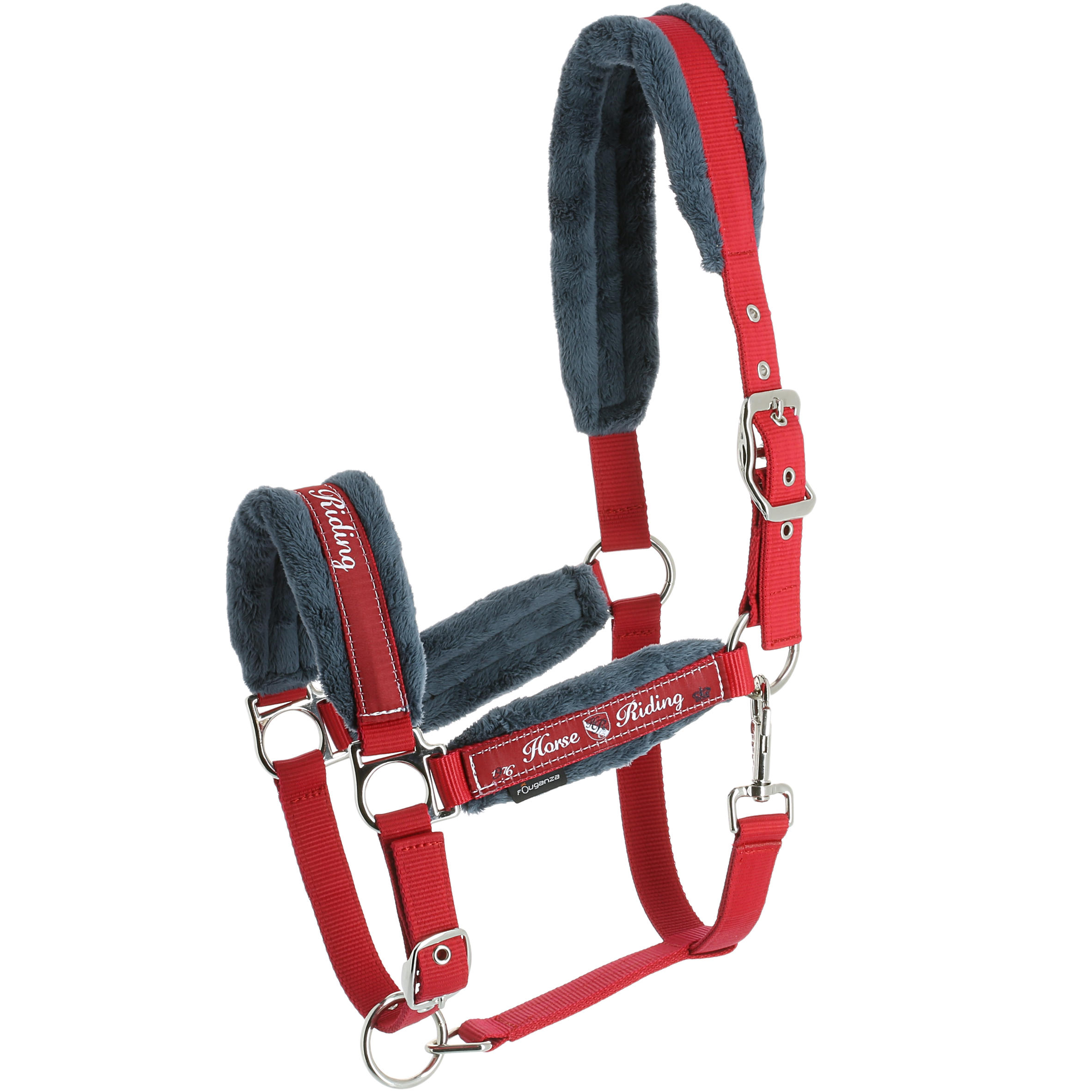Winner Horse Riding Halter + Leadrope Set For Horse Or Pony - Navy Blue