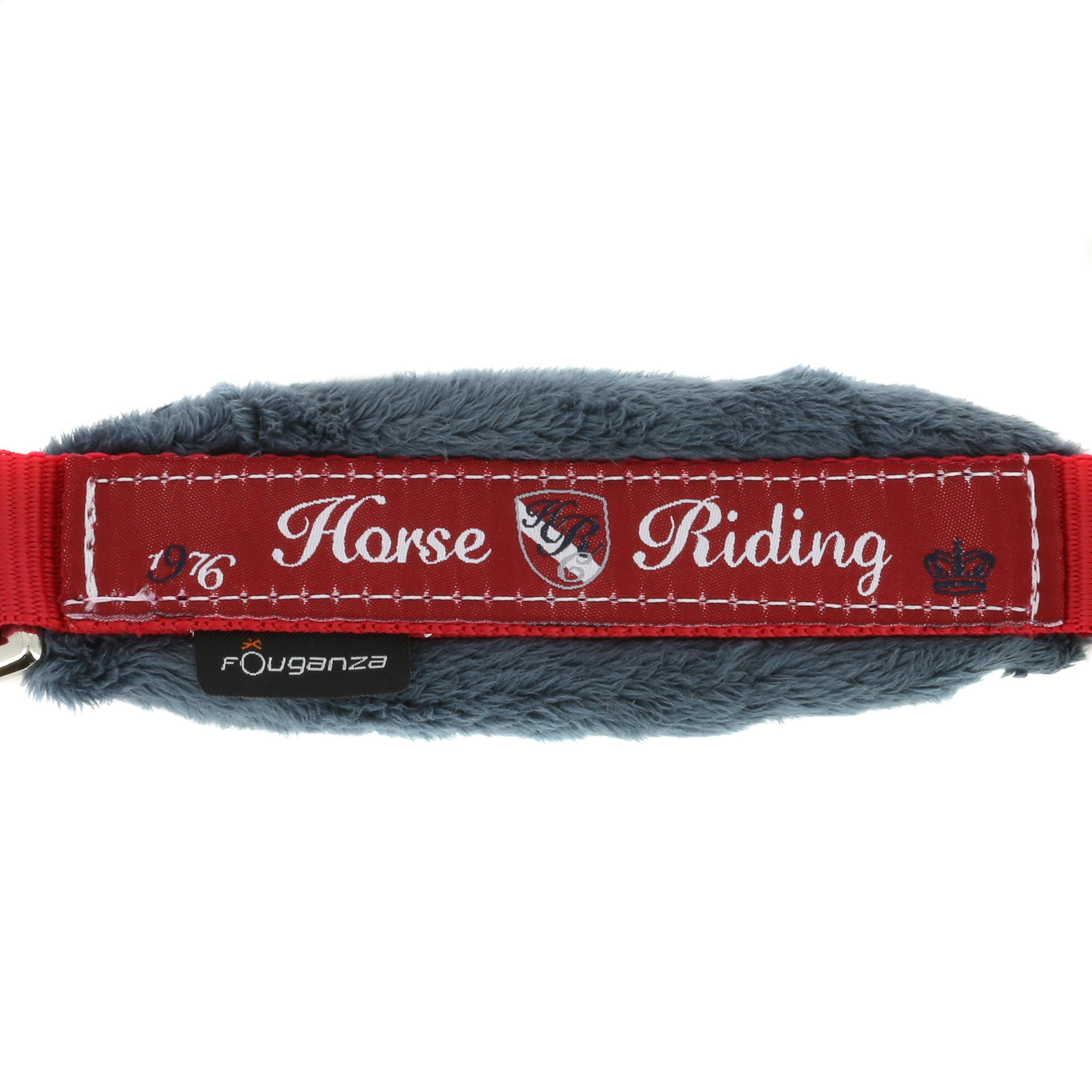 Licol + longe équitation poney et cheval WINNER rouge et bleu marine