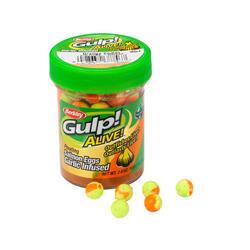 Kunstaas voor forelvissen zalmeitjes knoflook geel/goud